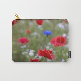 Spring Meadow Poppy Flowers full Bloom Carry-All Pouch