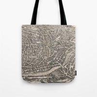rome Tote Bags featuring Rome  by Le petit Archiviste