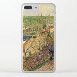 """Camille Pissarro """"Vue sur le village d'Osny"""" Clear iPhone Case"""