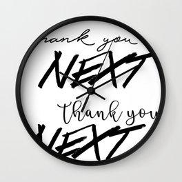 thank u, next Wall Clock