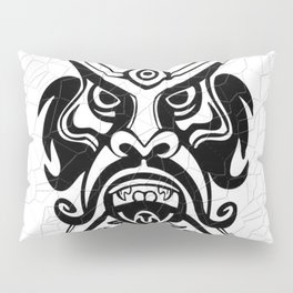 Vicious Tribal Mask Black and White 006 Pillow Sham