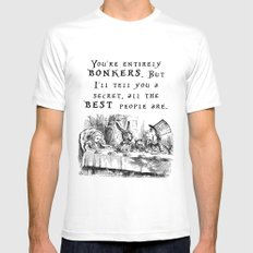 You're entirely bonkers MEDIUM White Mens Fitted Tee