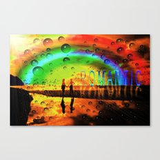 Romantic Sunset Reflections and Rainbow Canvas Print
