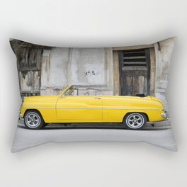 PARKED VINTAGE CLASSIC CAR NEAR CONCRETE WALL Rectangular Pillow