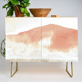 Terra Cotta Hills Abstract Landsape Credenza