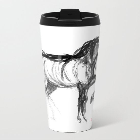 Horse (Saklavi) Metal Travel Mug