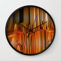 satan Wall Clocks featuring Liquid Satan by LBH Dezines