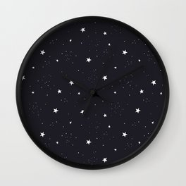stars pattern Wall Clock