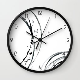 Black Abstract Lines. Wall Clock