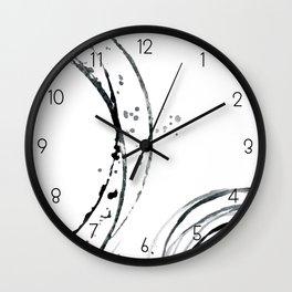 Black Abstract Lines. Wall Clock