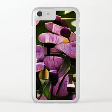 Abstract Wldflowers Clear iPhone Case
