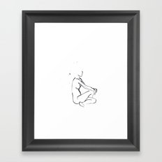 Sitting woman sketch Framed Art Print