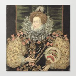 George Gower - Portrait of Elizabeth I of England Canvas Print