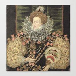 George Gower - Portrait of Elizabeth I of England Canvas Print