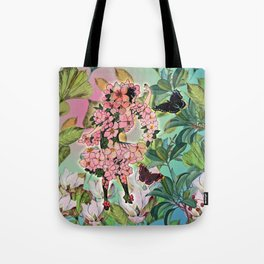 Vintage Flower Fairy Tote Bag