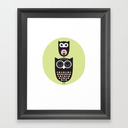 Owl nursery art Framed Art Print