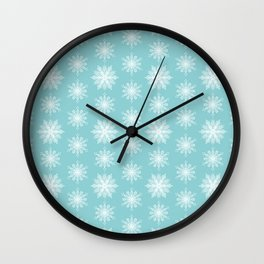 Frosty Snowflakes Wall Clock