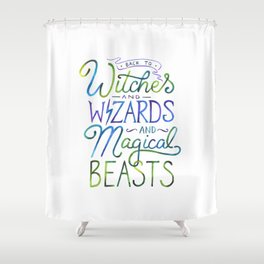 AVPM - Back To Hogwarts Shower Curtain