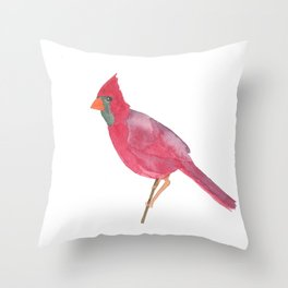 Cardinal Dreams Watercolor Throw Pillow