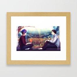4000 rainy nights - Markiplier and Jacksepticeye Framed Art Print