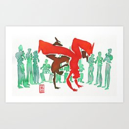Capoeira 246 Art Print