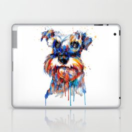 Schnauzer Head Watercolor Portrait Laptop & iPad Skin