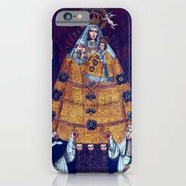 Cusco School Our Lady of the Rosary with Saint Dominic and Saint Rose iPhone Case