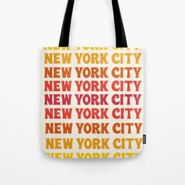 New York City - throwback 70's style colorful typography minimal decor art 1970s Tote Bag