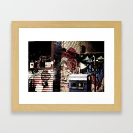 Kangeroo in the city Framed Art Print