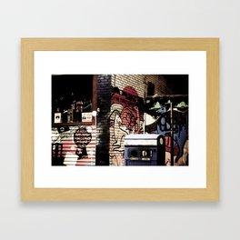 Kangeroo in the city Framed Art Print