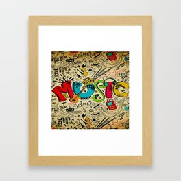 Music Love Framed Art Print