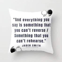 26   |  Jaden Smith Quotes | 190904 Throw Pillow