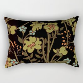 olive flowers Rectangular Pillow
