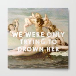 The Birth of Venus (1863), Alexandre Cabanel // The Little Mermaid (1989), Ron Clements&John Musker Metal Print