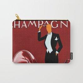 Vintage Champagne Red Veuve A. Devaux, Paris, France Jazz Age Roaring Twenties Advertisement Poster Carry-All Pouch