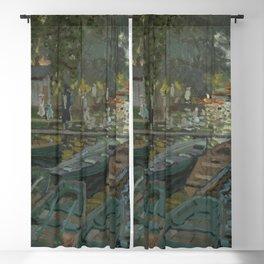 Claude Monet - Bathers at La Grenouillère Blackout Curtain