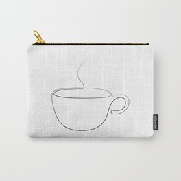 coffee or tea cup - line art Carry-All Pouch