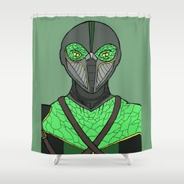 The Walking Serpent Shower Curtain
