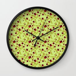 Celery Beauty and the Beets Wall Clock