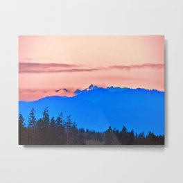 The Cascading Mountain Range Metal Print