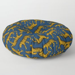 Tigers (Navy Blue and Marigold) Floor Pillow