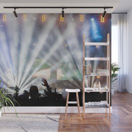 Concert Light Show Wall Mural