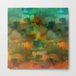 """Abstract forest in Autumn"" Metal Print"