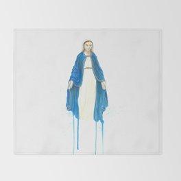The Virgin Mary Throw Blanket
