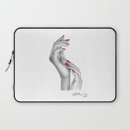 Complicità - Hand with Red Nails Laptop Sleeve