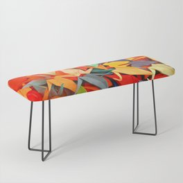 Senbazuru rainbow Bench