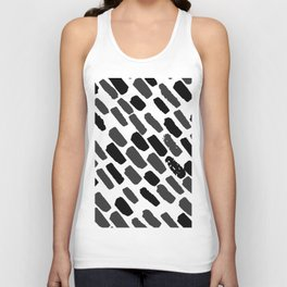 Oblique dots black and white Unisex Tank Top