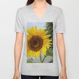 une seule fleur Unisex V-Neck