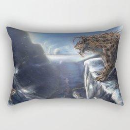 Danger Through the Mountain Pass Rectangular Pillow