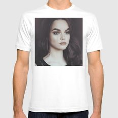 Beautiful girl SMALL White Mens Fitted Tee